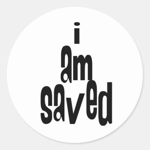 Soy cristiano ahorrado pegatinas redondas