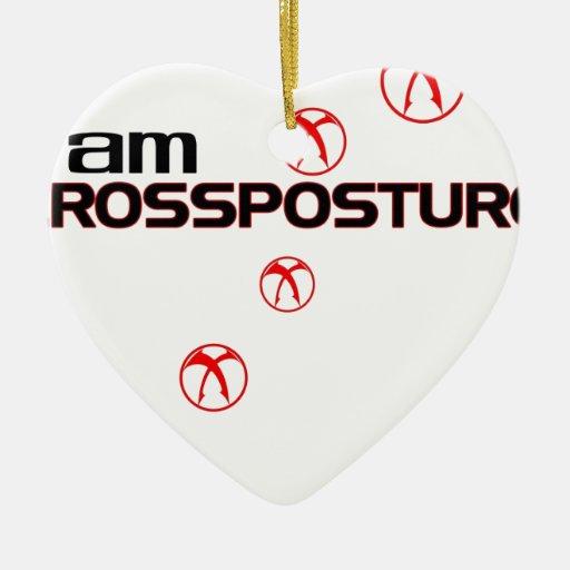 Soy CrossPosture Adorno Navideño De Cerámica En Forma De Corazón