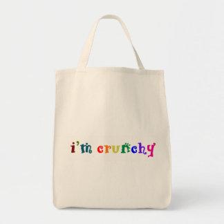 Soy crujiente bolsa tela para la compra