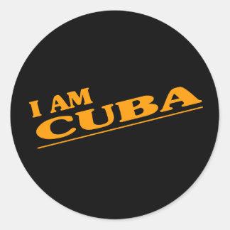 Soy Cuba Pegatina Redonda