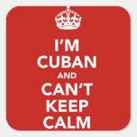 Soy cubano y no puedo guardar calma calcomania cuadrada personalizada