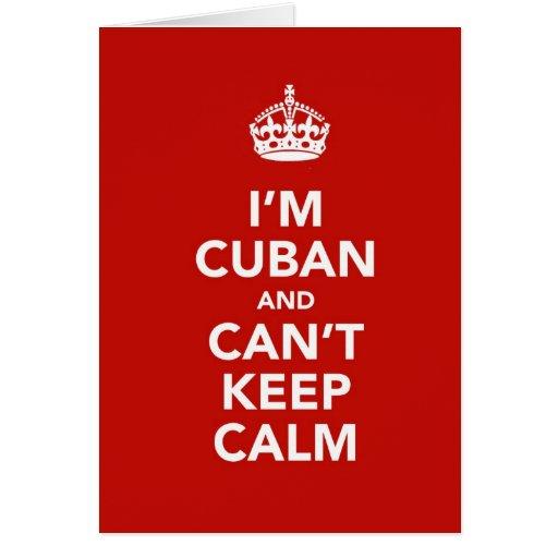 Soy cubano y no puedo guardar calma tarjeta de felicitación