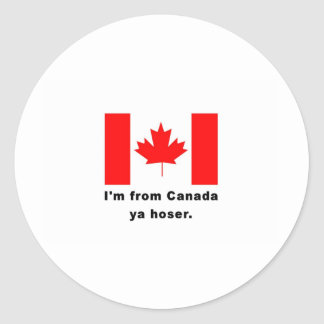 Soy de Canadá Ya Hoser Etiquetas Redondas