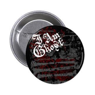 """Soy del """"botón jardín del hueso"""" del fantasma pin redondo 5 cm"""