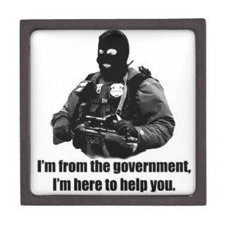Soy del gobierno, yo estoy aquí ayudarle cajas de joyas de calidad