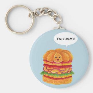 ¡Soy delicioso! - Serie de la hamburguesa Llaveros Personalizados