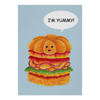 ¡Soy delicioso! - Serie de la hamburguesa Póster