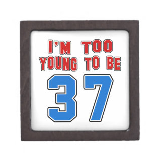 Soy demasiado joven ser 37 caja de joyas de calidad
