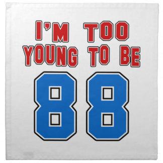 Soy demasiado joven ser 88 servilletas de papel