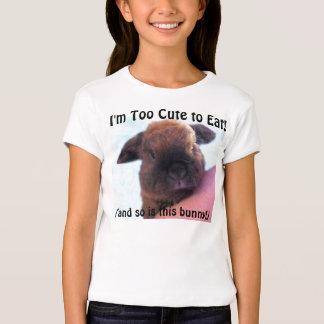 ¡Soy demasiado lindo comer! Camiseta Poleras