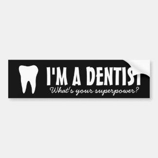 Soy dentista cuál es usted pegatina para el pegatina para coche