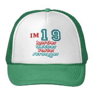 Soy diecinueve. ¡Mejore más difícilmente más rápid Gorras