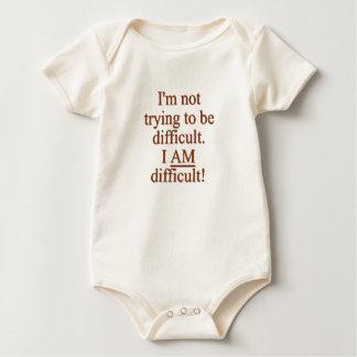 Soy difícil body para bebé
