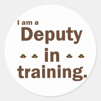 Soy diputado en el entrenamiento pegatina redonda