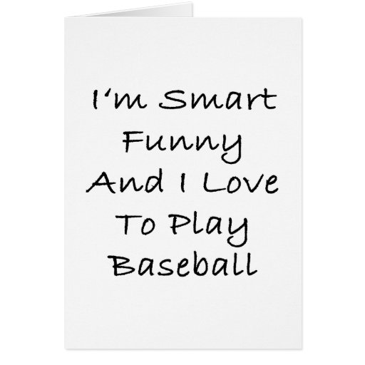 Soy divertido elegante y amo jugar a béisbol tarjetas