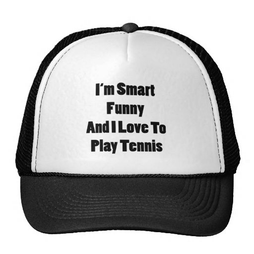 Soy divertido elegante y amo jugar a tenis gorros bordados