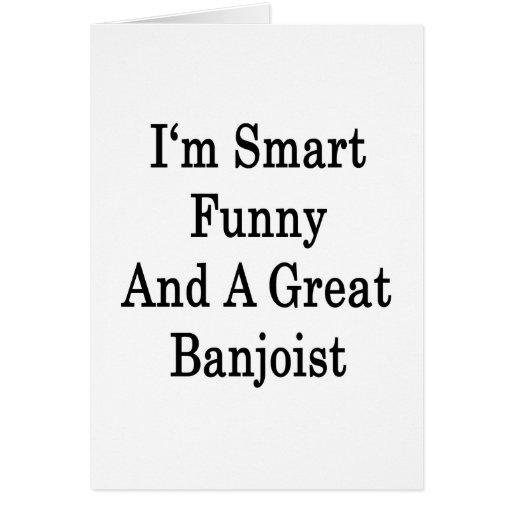 Soy divertido elegante y gran Banjoist Tarjeta