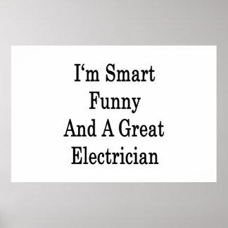 Soy divertido elegante y gran electricista poster