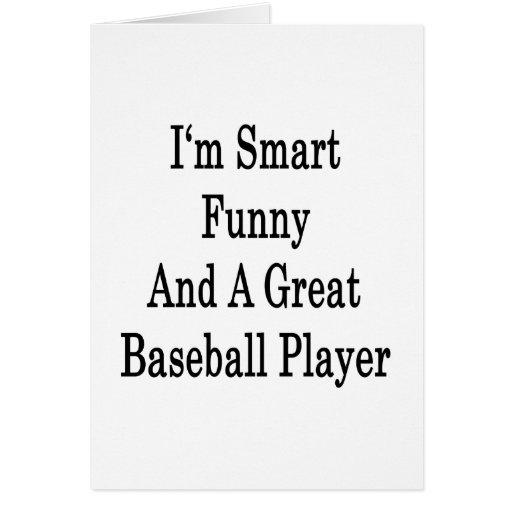 Soy divertido elegante y gran jugador de béisbol tarjeta