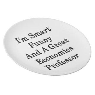 Soy divertido elegante y gran profesor de economía platos de comidas