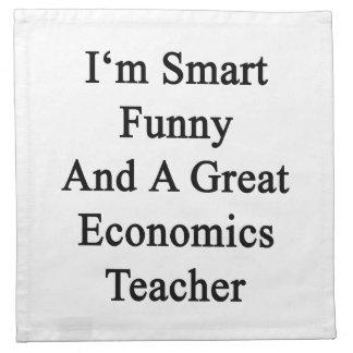 Soy divertido elegante y gran profesor de la econo servilleta