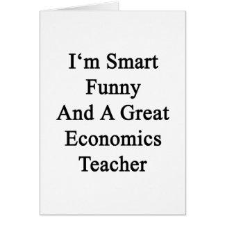 Soy divertido elegante y gran profesor de la econo tarjeta de felicitación