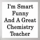 Soy divertido elegante y gran profesor de la quími impresiones