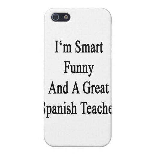 Soy divertido elegante y gran profesor español iPhone 5 carcasa