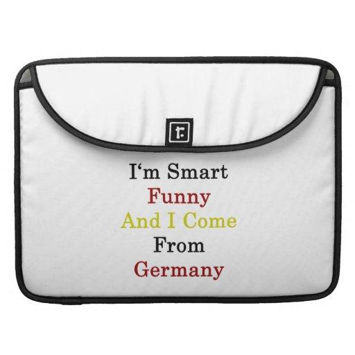 Soy divertido elegante y vengo de Alemania Fundas Macbook Pro