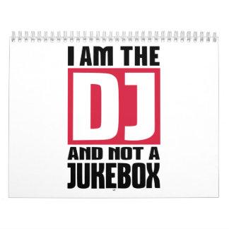 Soy DJ no una máquina tocadiscos Calendarios