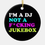 Soy DJ no una máquina tocadiscos Ornamento De Navidad