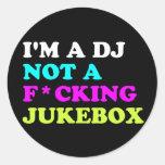 Soy DJ no una máquina tocadiscos Pegatina Redonda
