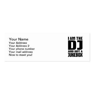 Soy DJ no una máquina tocadiscos Plantillas De Tarjeta De Negocio