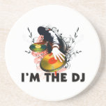 Soy DJ Rockin las placas giratorias Posavasos Diseño