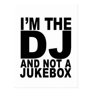Soy DJ y no una máquina tocadiscos Men.png Postal