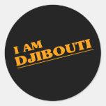 Soy Djibouti Pegatina Redonda