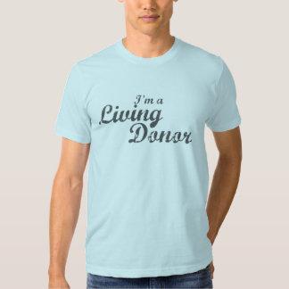 Soy donante vivo de A - gris apenado Camisas