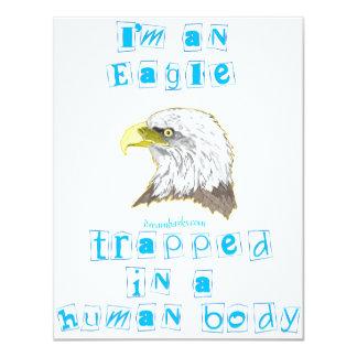 Soy Eagle Invitación 10,8 X 13,9 Cm