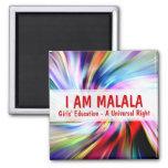 Soy educación de los chicas de Malala a la derecha Imán Cuadrado