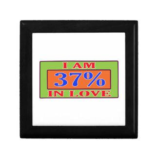 Soy el 37% en amor joyero cuadrado pequeño