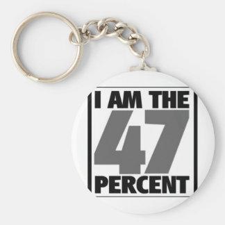 Soy el 47% llavero redondo tipo pin