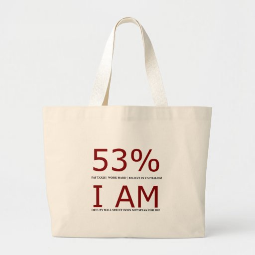 Soy el 53% bolsa de tela grande