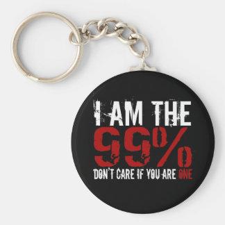 Soy el 99%, no cuido si usted es UNO Llaveros Personalizados