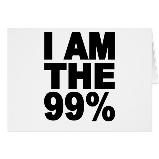 Soy el 99% (ocupe Wall Street) Tarjeta