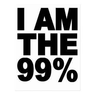Soy el 99% (ocupe Wall Street) Tarjetas Postales