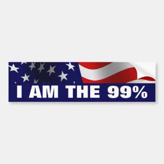 Soy el 99 por ciento pegatina para auto