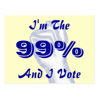 Soy el 99% tarjeta postal
