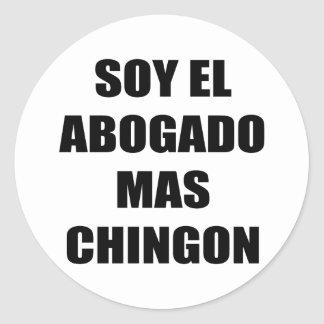 Soy El Abogado Mas Chingon Classic Round Sticker