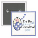 Soy el Abuela-Azul orgulloso Pins