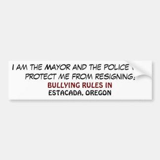¡Soy el alcalde…! Etiqueta De Parachoque